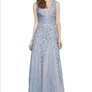 Bcbgmaxazria Elina Embroidered Tulle Gown